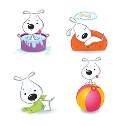 puppy dog set vector image