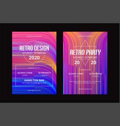 retro poster template-02 vector image