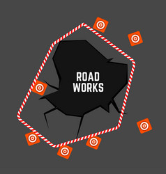 Road works image vector