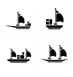 Sailboat and transport icons vector