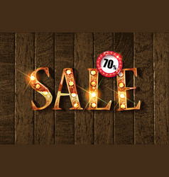 sale golden text vector image