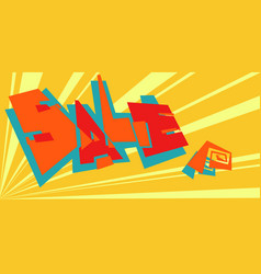 sale pop art retro background vector image