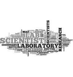 Scientist word cloud concept vector