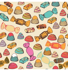 Seamless pattern with colorful candies vector