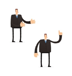 set of funny cartoon businessman vector image