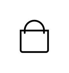 shopping bag icon isolated for graphic and web vector image