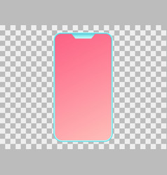 smartphone on a transparent background gradient vector image