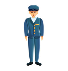 Soldier blue uniform icon cartoon style vector