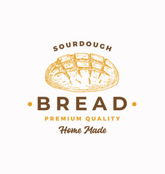sourdough bread abstract sign symbol or logo vector image