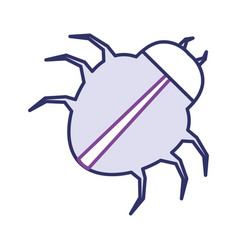 spider virus infection icon vector image