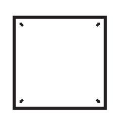 Square geometric shapes 4 sides 4 corners - line vector