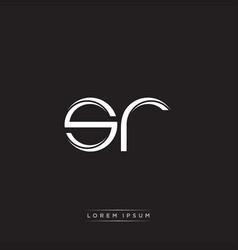 Sr initial letter split lowercase logo modern vector