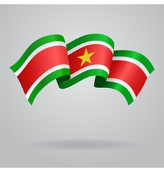 Surinamese waving Flag vector image