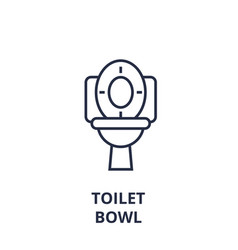 Toilet bowl line icon outline sign linear symbol vector