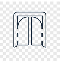 Tomahawk concept linear icon isolated on vector