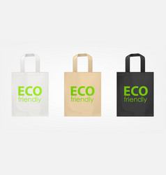 Tote shopping eco bags vector