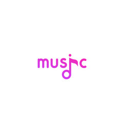 violet logo in flat style for music project vector image