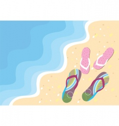 Wave shoes vector