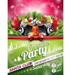 Christmas Party design with holiday elements vector image