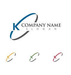 K letter arrows icon logo template design vector