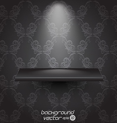 presentacion shelf black vector image