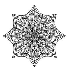 beautiful deco floral mandala round vector image