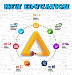 Education infographic design vector image