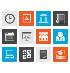 Flat Business finance and office icons vector image