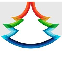 Original christmas tree design in rainbow colors vector image