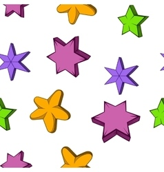 Star pattern cartoon style vector image vector image