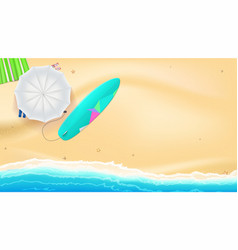 summer sand of beach on the seashore umbrella vector image vector image