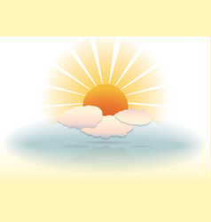 Sunny clouds vector image