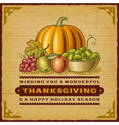 Vintage Thanksgiving Card vector image vector image