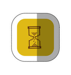 yellow symbol hourglass icon vector image