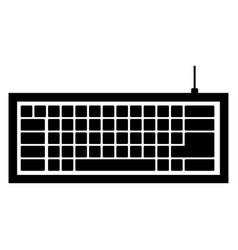 black computer keyboard icon vector image
