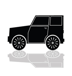 car in black color vector image
