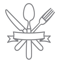 Cutlery - knife fork and spoon vector image vector image