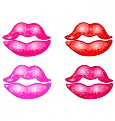 kisses vector image vector image