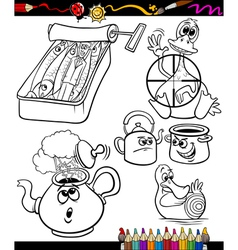 sayings set for coloring book vector image