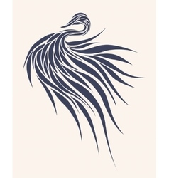 Stylized bird in a graphic style vector image