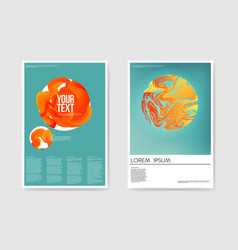 abstract trendy poster liquid fluid shapes vector image