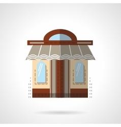 Barbershop facade flat color icon vector image
