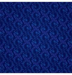 Blue vintage floral seamless pattern vector image vector image
