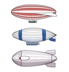 Colorful airships zeppelins vector image