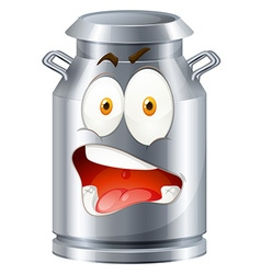 Milk tank with face vector image