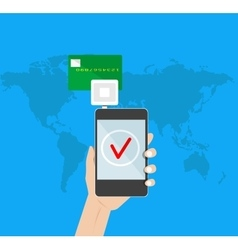 mobile payment credit card vector image vector image