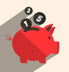 Money Pig Bank Retro vector image