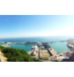 seaside landscape Outdoor Barcelona vector image vector image