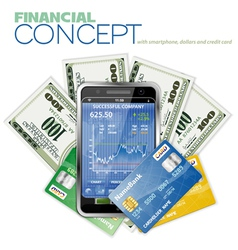 touch phone stock market vector image