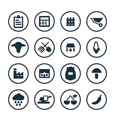 agriculture farm icons universal set vector image